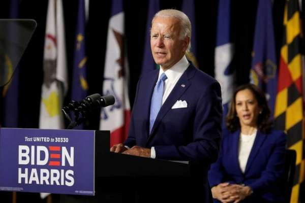 Biden and Harris make 1st appearance as historic Democratic ticket