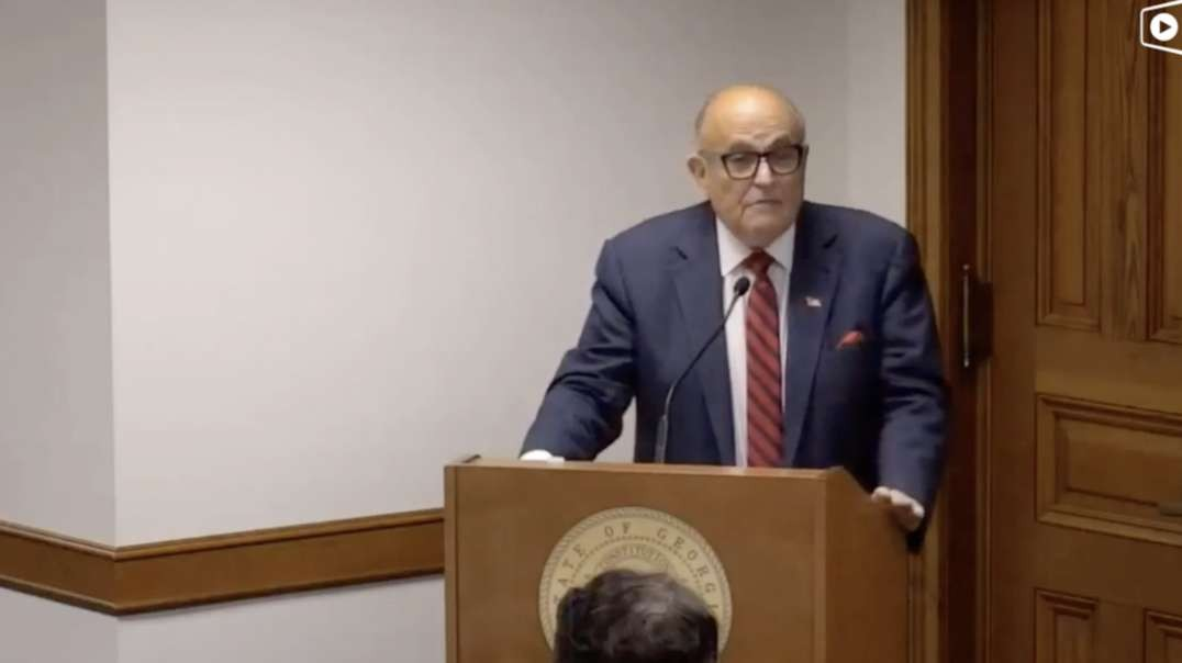 LIVE: Giuliani Testifies—Georgia Senate Subcommittee Continues Hearing on Election Issues